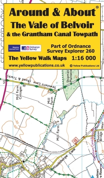 The Vale of Belvoir & the Grantham C Towpath | Yellow ... C O Towpath Map on