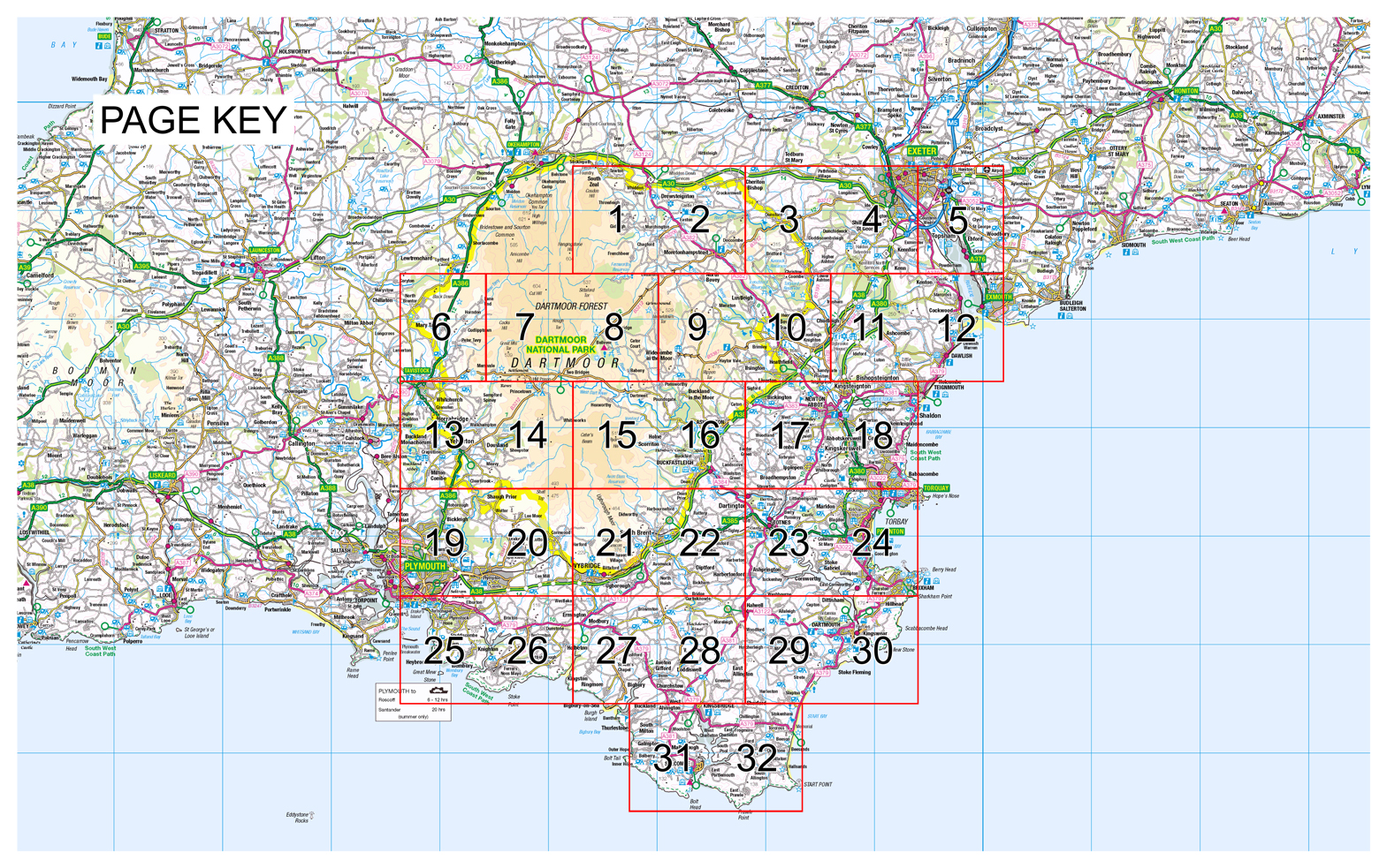 Map Of Uk Devon.South Devon Yellow Publications Publisher Of Yellow Maps
